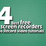 best free screen recorders to Record video tutorials