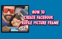 How to create Facebook profile picture frame