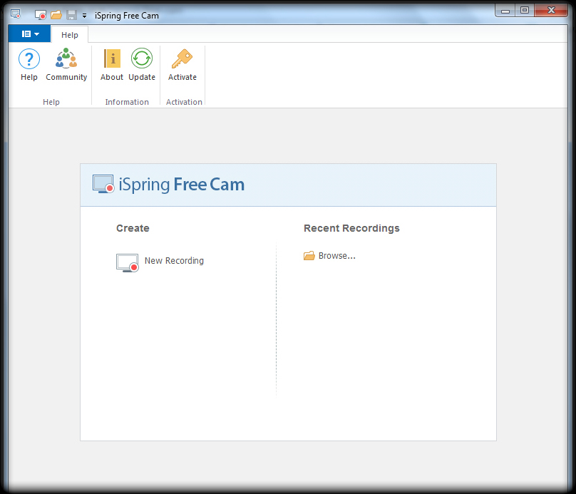 iSpring Free Cam best free screen recorders to Record video tutorials